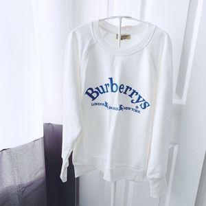 Burberry White Battarni Logo Sweatshirt